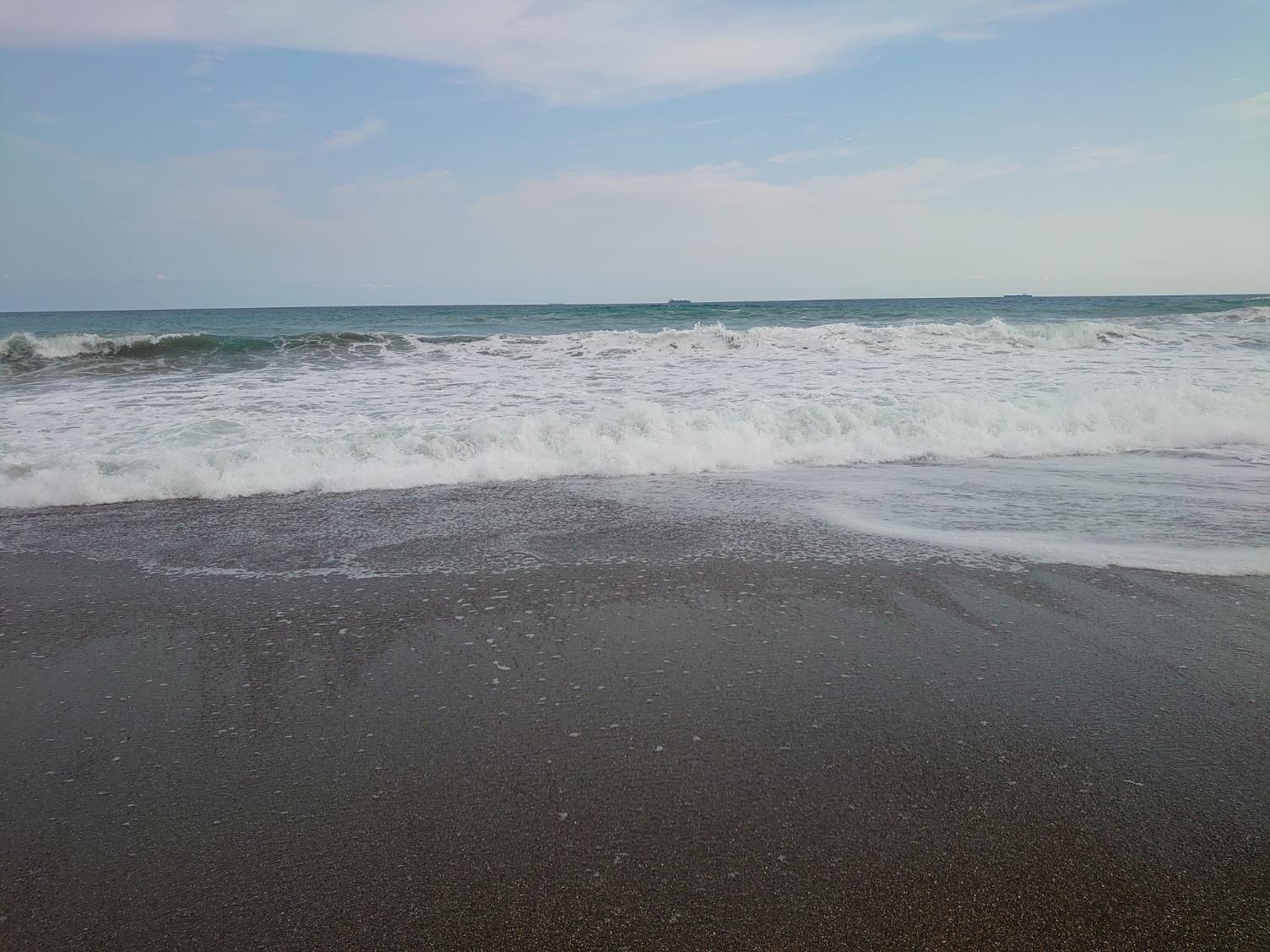 多少は波も・・・。