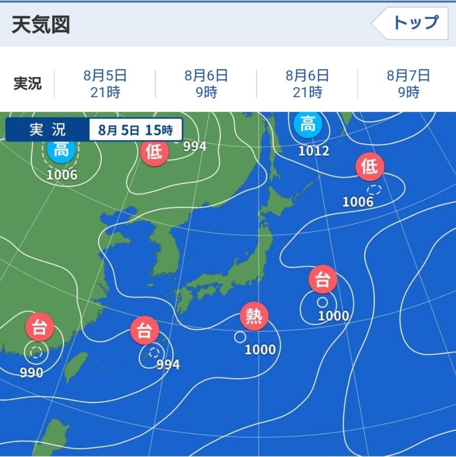 2021年8月5日の天気図